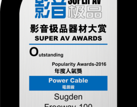 Sugden Freeway100 Powercables Awards